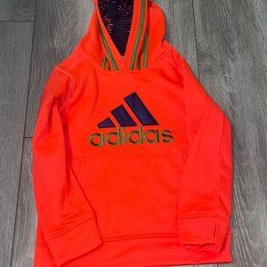 Adidas orange and green hoodie